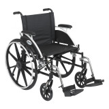 "Viper Wheelchair with 20"" wide seat and Various Flip Back Desk Arm Styles and Front Rigging Options-995"