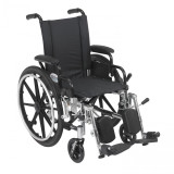 "Viper Wheelchair with 14"" wide seat and Various Flip Back Desk Arm Styles and Front Rigging Options-998"