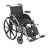 "Viper Wheelchair with 16"" wide seat and Various Flip Back Desk Arm Styles and Front Rigging Options-1000"