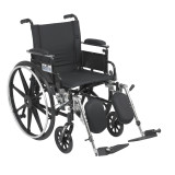 "Viper Wheelchair with 18"" wide seat and Various Flip Back Desk Arm Styles and Front Rigging Options-1002"