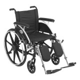 "Viper Wheelchair with 18"" wide seat and Various Flip Back Desk Arm Styles and Front Rigging Options-1004"