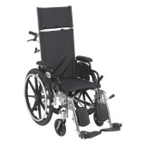 "Viper Plus Light Weight Reclining Wheelchair with 20"" wide seat and Elevating Leg rest and Various Flip Back Arm Styles-1014"