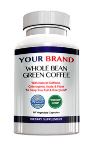Privatel Label Supplement Whole Bean Green Coffee Patent-Pending WGCP