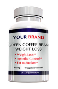 Private Label Supplements Green Coffee Bean Extract 800mg