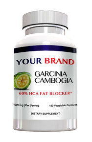 Private Label Supplement Garcinia Cambogia 60% Hydroxycitric Acid (HCA) With Potassium 180 Count