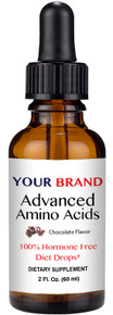 Private Label Supplements - Advanced Amino Acids, Hormone Free Diet Drops, Chocolate Flavor