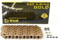 PRO X RACING CHAIN, X RING GOLD CHAIN, 520 size, 120 LINKS