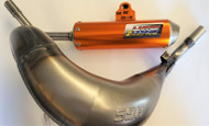 KTM 85 SX HGS EXHAUST & ORANGE MUFFLER SYSTEM 2004-2017