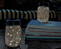 Angel Tear Lights In Mason Jar Lid