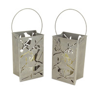 Indoor Outdoor LED Luminaries | Set of 2