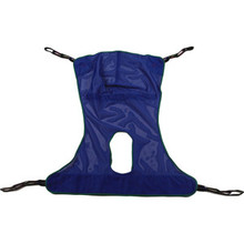 Full Body Mesh Sling with Commode Opening, 4 points, 450 lbs Capacity