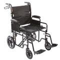 "Roscoe Heavy Duty Transport Wheelchair w/ 12"" Rear Wheels"