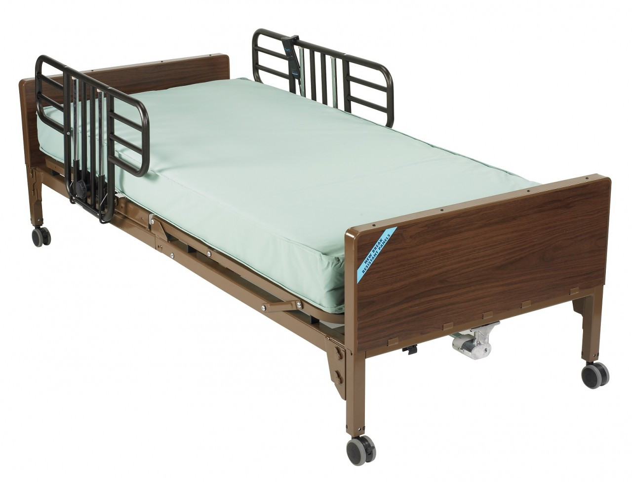Drive Full Electric Bed W Half Rails And Innerspring Mattress Package