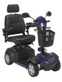 Drive Ventura 4 DLX Wheel Scooter with Captain Seat Blue