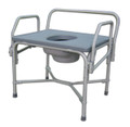 Medline Bariatric Drop Arm Steel Commode
