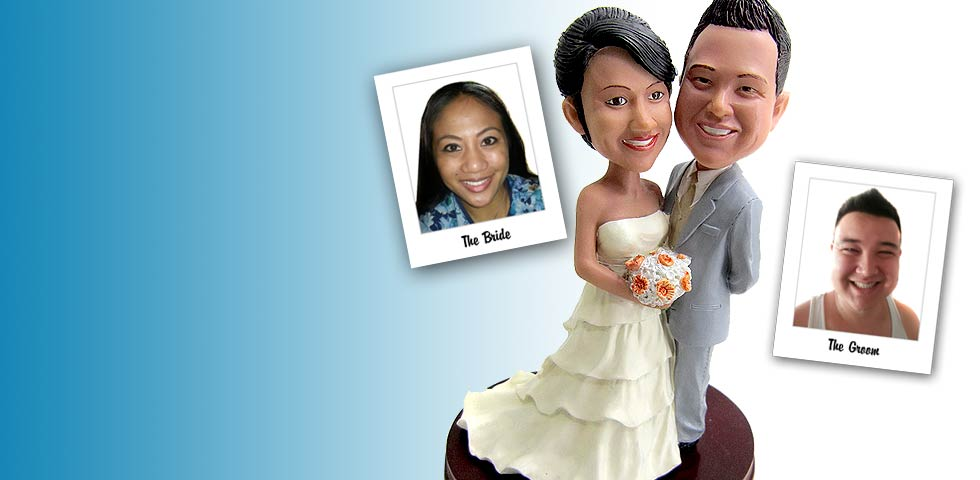 Custom Bobblehead Wedding Cake Toppers