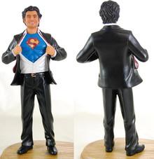 Superhero Groom Cake Topper Figurine