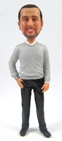 Craig - Sweater Groom Cake Topper Figurine
