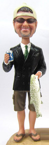 Jim - Fishing Groom Cake Topper Figurine