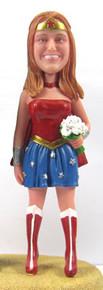Wonderwoman Bride - Vintage Cake Topper Figurine