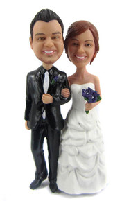 Pick up ballgown style wedding cake topper