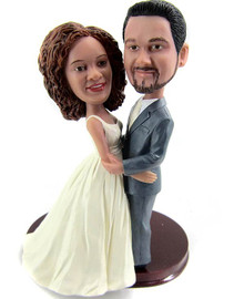 Custom Facing Eachother Wedding Cake Topper