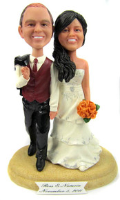 Casual Hand in Hand  Wedding Cake Topper
