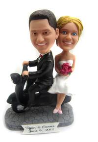 Scooter wedding couple