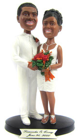 Short Skirt Bride Wedding Cake Topper