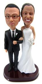 Tall Bride Short Groom Wedding Cake Topper
