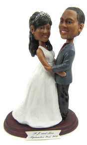 Custom Plus Size Bride and Groom Cake Topper