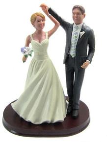 Ballroom dancing wedding cake topper