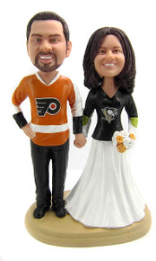 NHL Hockey wedding cake toppers