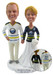 Custom made hockey wedding cake toppers - Buffalo Sabres