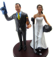 #1 Hockey Fans Wedding Cake Topper
