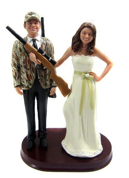 Hunting Wedding Cake Toppers Bobblegram