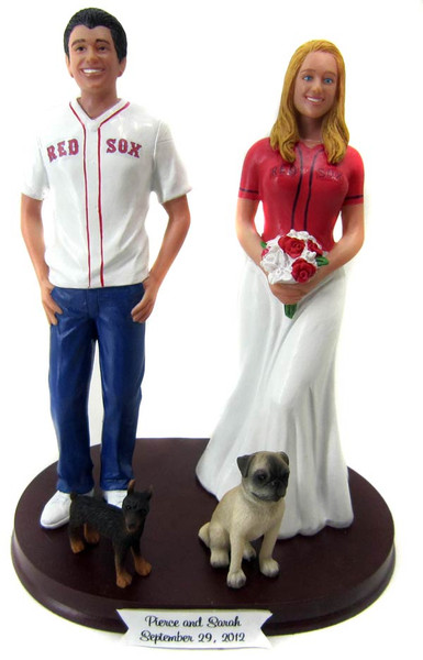 Baseball Jersey Wedding Cake Toppers Custom + Personalized