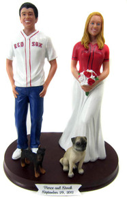 Baseball Fans Wedding Cake Topper