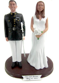 Marine Officer Groom Cake Topper