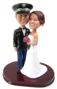 Army Officer Wedding Cake Topper
