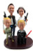 Star Wars Han Solo Princess Leia Darth Vader Luke Skywalker Custom Wedding Cake Toppers