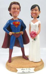 Superman Groom w/ Interchangeable Bride Style