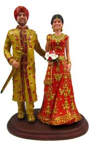 East Indian Custom Wedding Cake Topper
