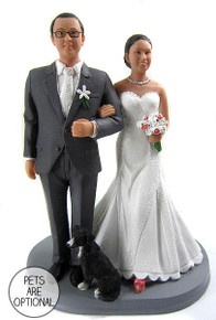 Daisy Couple Wedding Cake Topper