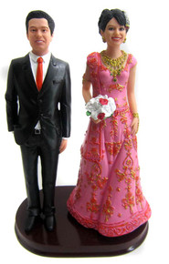 Indian bride wedding cake topper