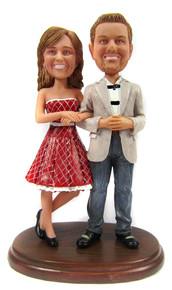 Custom wedding anniversary couple bobbleheads