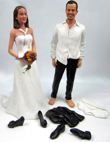 Disheveled Couple Wedding Cake Topper