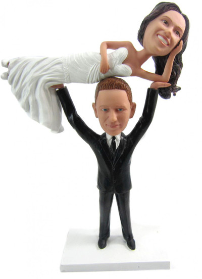 Weightlifter Groom Wedding Cake Topper