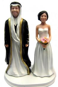 Classic Arab Groom Style Wedding Cake Topper