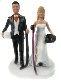 Hockey Players Wedding Cake Topper